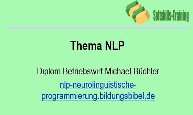 NLP Präsentation Einführung in das neurolinguistische Programmieren